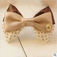 Free shipping New 2014 Jewelry Fashion  Hair Accessories Hairpins Korean Style Hair Bows Silk Hair Clip F024