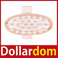 [DollarDom] New Comfortable Natural Wooden Hand Held Slimming Massager Anti Cellulite Worldwide free shipping