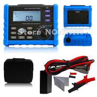 Free shipping High quality Blue NEW Digital Megger 250V/500V/1000V/2500 Digital Insulation Resistance Tester Compare MS5205