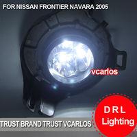 Free Gifts + Free Shipping LED Car Fog Light for NISSAN NAVARA  2011~ON Clear Lens PAIR SET + Wiring Kit