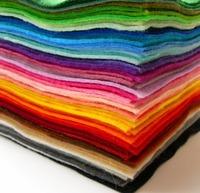 arcylic felt set ,soft craft,DIY felt fabric,1.2mm~1.5mm thickness ,30cm*30cm size ,30 colors/set,free shipping