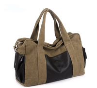 New fashion softback Unisex men women 40cm*30cm*14cm Canvas handbag  Casual shoulder bag Versatile daily backpack(131001)