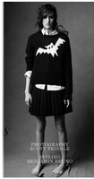 New Arrial  Fashion Women's Bat Print Jumper Knitting Black / white  Sweater  Casual Sweaters ML Streetwear