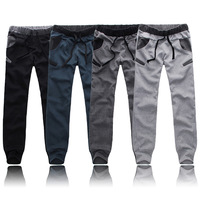 Drop Free Shipping Korean Style Mens Boys Casual Slim Pants Trousers Cool Jogger Sports Sweatpants SP0288