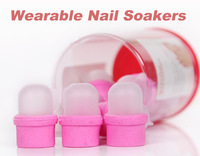 Freeshipping-  Wearable Nail Soakers for Acrylic Nail Polish Remover  10 pcs / set