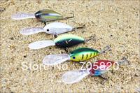 Long Tongue Crank Fishing Lures 63mm 19.2g with 4# VMC Hooks,PRO-8053 Crankbait wobbler fishing hard bait,5pcs/lot,Free shipping