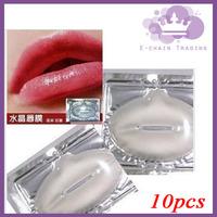 10 pcs/lot Crystal Collagen Lip Mask Collagen Protein Crystal Lip Film Sexy Lip Women