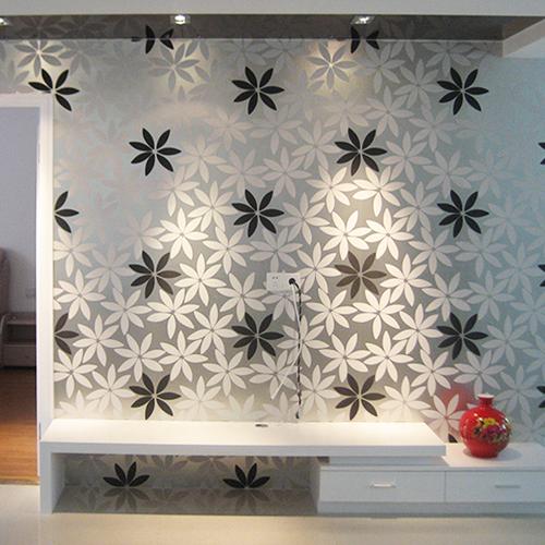 Embossed Black Wallpaper Modern Embossed 3d Black White