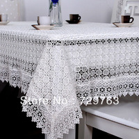 White Openwork Lace Tablecloth Tea Table Cloth Cover Tablecloths Home Textiles Decor Multiple Sizes Selectable