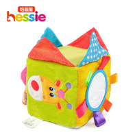 Hessie baby rattle toys & teether multifunction soft cloth blocks baby toys cute plush deer animal for 0-3 child free shipping