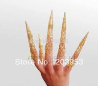 hot ethnic dance avalokitesvara belly dance nail sets nail wrap India dance false finger nail dancing costume props