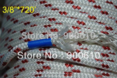 "3/8""X720' PREMIUM DOUBLE BRAIDED POLYESTER SAILING ROPE /YACHT ROPE DOCK LINE(China (Mainland))"