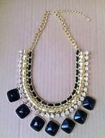 Min.order is $10(mixi items)Free Shipping! high fashion luxurious rhinestone & acrylic  tassels Choker necklace women  jewelry