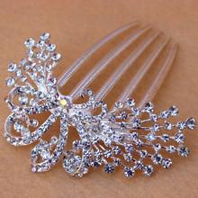 Bridal Wedding Party Quality Flower Leaf Crystal Hair Comb Rhinestone Bridal Hair Accessories Wedding Jewelry J13