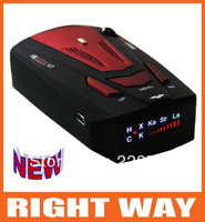 Wholesale 360 Degree Detection Voice Alert Car Radar Detector Russia and English Voice for Car Speed Limited