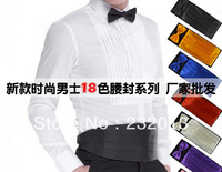 Factory Cheap Fashion Mens Gentlemen Bridegroom Polyester Bow Tie Corset Set with Box Suit Accessories Free Shipping