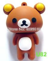 Full 4GB 8GB 16GB 32GB Brown Mini bear USB 2.0 Flash Memory Stick Pen Drive Thumbdrive U Disk Storage Device,100% real capacity