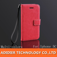 1pc  New PU leather case for iPhone 5C different pattern with many colors for Iphone 5 C many colors Wholsale