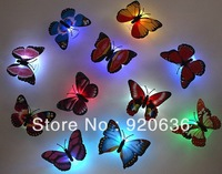 Luminous butterfly decoration suction cup small night light novelty seven color allochroism nightlight led small night light