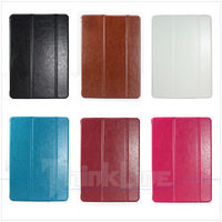 Wholesale Luxury Crazy Horse Leather Case Tri Fold Retro Smart Cover for iPad Air, 6 Colors - 100 pcs, Free Shipping