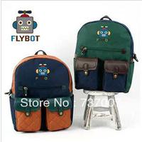 Winghous south Korean children's school bags fashionable private pupils endorsed shoulder bag robot