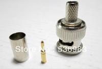 100pcs  RG59 BNC Connector BNC male 3-piece crimp connector plugs RG59  free shipping