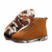 Free shipping!High quity Men's winter 2013 New England style Martin shoes Add wool upset increase leisure leather boots HSk58