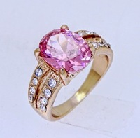Fashion Jewelry Lady's Ruby 10KT Yellow Gold Filled Ring Size 7 8 9CZSR50 Free Shipping