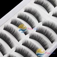 [Super Deals] 10 Pairs Natural False Eyelashes Extensions Makeup Eye Lashes Black #017 wholesale