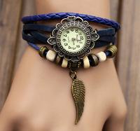 Retro fashion lady bracelet watch ladies knit bracelet watch wholesale fashion watches wholesale watches wings