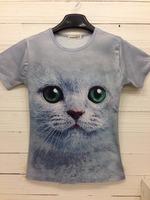 Free Shipping Mens 3D Style Animal Design Cotton Shirt Fashion Short Tees