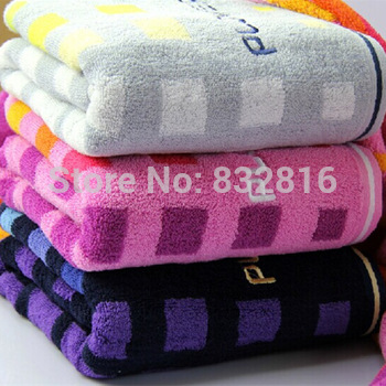 1PCS Cheap Price 100% Cotton Plaid Printing Home Bath Towel Beach Towel Household Articles 140x70cm