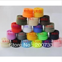 Free shipping 2cm nylon velcro tape  hook and loop velcro fastener 25m/roll 17colors