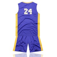 HOT SALE!! leisure children's basketball jerseys white purple yellow NO.24 Star basketball suit,SizeS.M.L wholesale discount