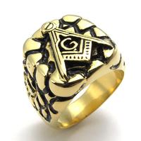 Vintage Embossed Freemason Masonic Stainless Steel Band Mens Womens Signet Ring Men Jewelry