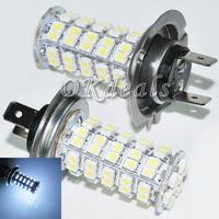 2x Ultra Bright Car Vehicle Parking H7 68 3528 SMD LED White Headlight Bulb Fog Light
