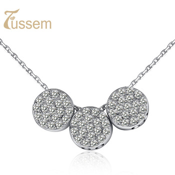 FUSSEM Lucky Beads Necklace Jewelry made by Swiss Diamond and S925 Sterling Silver, Not Allergic Not Fade and FREE SHIPPING