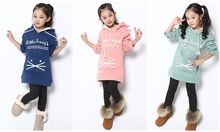 girls  2014 fall and winter  children baby outerwear long-sleeved warm clothing sweaters kid casual jacket  winter coats hoodies(China (Mainland))