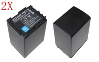 2X BP-828 BP828 full decoded Batteries for Canon VIXIA HF G30, XA20, and XA25 Camcorders.
