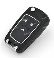 Uncut Blank Flip Folding Key Shell Case Fit For Chevrolet Cruze Spark Camaro Equinox Malibu Sonic Volt 3 Buttons Switchblade Fob