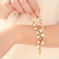 Min.order Is $10(mix order) New 2013 Pearl Four Leaf Clover Bracelet&Bangles Fashion Wholesale