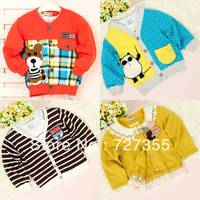 Free Shipping Baby autumn infant outerwear baby clothes 2013 male female child 0-1 year old 2 cardigan