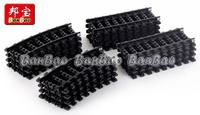 Banbao Building Blocks Hot Toy Train Rail Tracks Black Color Sets 16pcs Educational DIY Bricks Toys for Children Compatible
