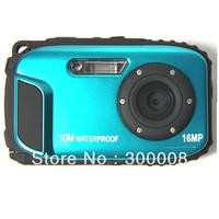 10m Waterproof 16MP  Shockproof Underwater Digital Camera with  8X digital Zoom and 2.7'' LCD