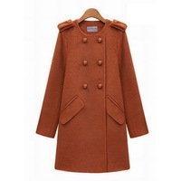 New Arrival 2014 Winter Fashion Brand Women Trench High Quality Woolen Coat Desigual Slim Ladies Coat Outwear Overcoat 8434