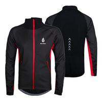 WOLFBIKE Men Fleece Thermal Winter Wind Cycling Jacket Windproof Bike Bicycle Coat Clothing Casual Long Sleeve Jersey Waterproof
