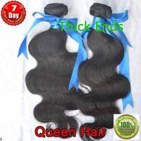 Free Shipping 2 bundles/ lot  Queen hair, Virgin Indian body wave hair weave,100% unprocessed human hair