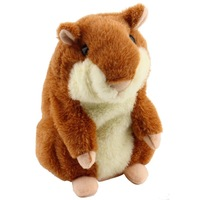 Lovely Talking Hamster Plush Toy Hot Cute Speak Talking Sound Record Hamster  Toy Animal Free Shipping Wholesale