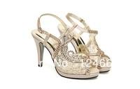 2013 OL fashion high heels sandals gauze diamond shoes noble open toe sandals
