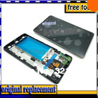 1pcs FOR LG Optimus G E975 E976 LS970 E973 Original LCD Display Screen +Touch Digitizer Assembly with frame bezel +tracking